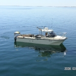 Our diving boats out to fish